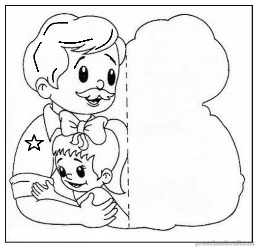 fathers day coloring pages for kindergarten - Preschool Crafts
