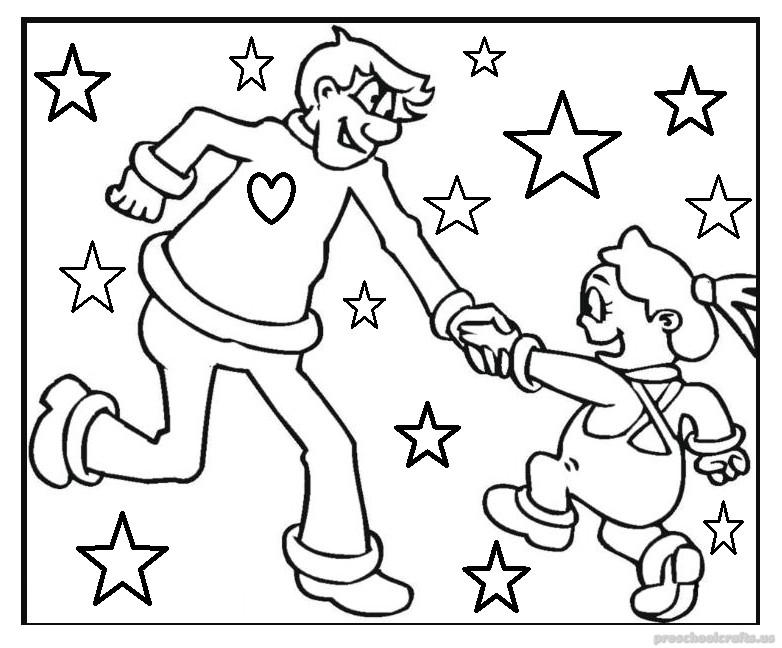 fathers day coloring pages activity - photo#19