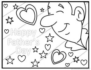 fathers day coloring pages for preschooler