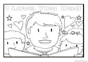 happy fathers day coloring pages for kindergarten