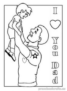 happy fathers day coloring pages for kindergarten - free printable