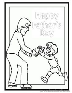 happy fathers day coloring pages for kindergartner - free printable