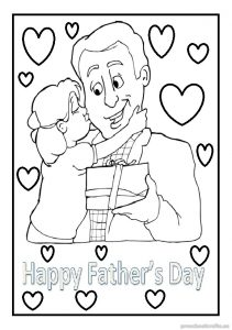 Father\'s Day Coloring Pages for Kids - Free Printable - Preschool ...