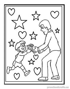 happy fathers day coloring pages for preschooler