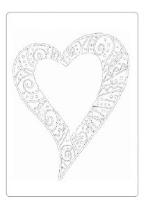 heart coloring page for happy mothers day - free printable