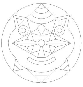 Mask mandala coloring pages - free printable