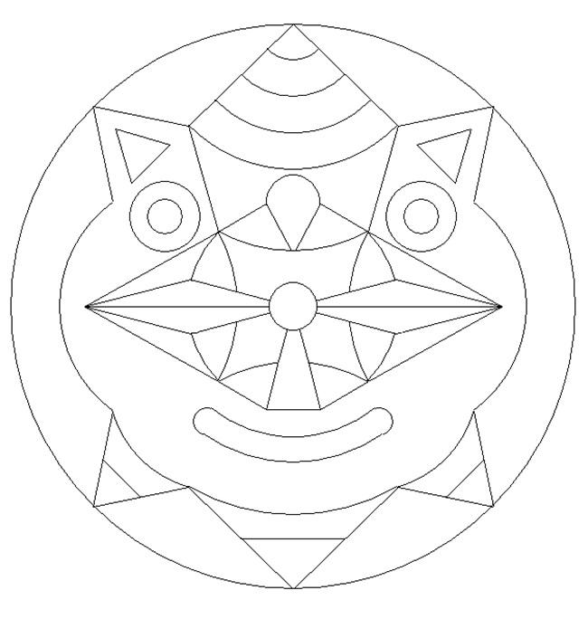 Mask Mandala Coloring Pages