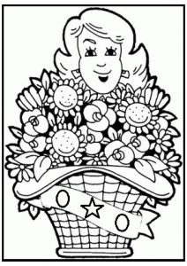 mothers day colouring pages
