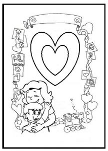 mothers day colouring pages for kindergarten