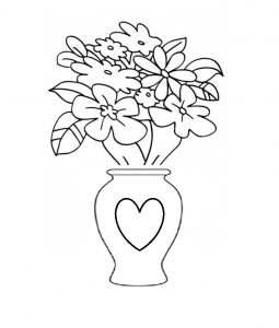 preschooler happy mothers day coloring page