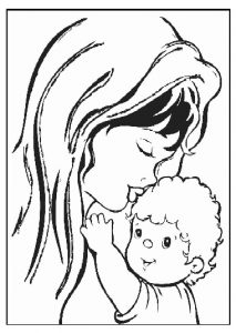 preschooler mothers day coloring page