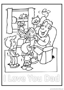 printable happy fathers day coloring pages for preschool