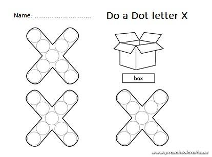 Do A Dot Lowercase Letter X Worksheet