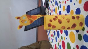 Kindergarten giraffe craft idea