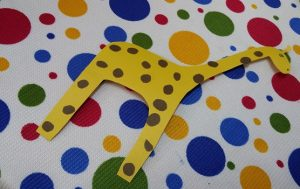 Preschool giraffe craft idea