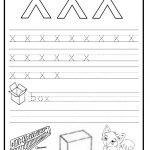 Trace and write the lowercase letter x worksheet