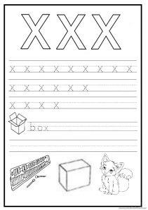 Trace The Lowercase Letter X Worksheet For 1st Grade Archives