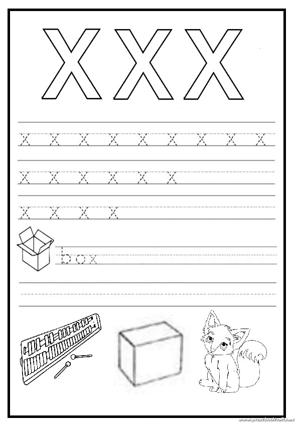 lowercase letter x worksheet free printable preschool and kindergarten. Black Bedroom Furniture Sets. Home Design Ideas