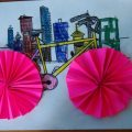 accordion bicycle craft idea for kids