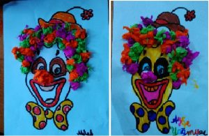 clown craft idea for kids