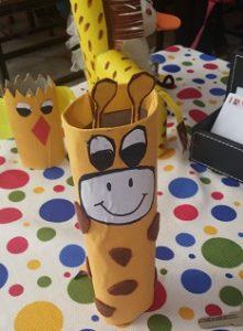 free crafts ideas to giraffe for preschool