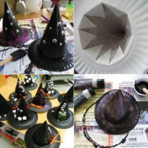 halloween witch hat crafts for kids