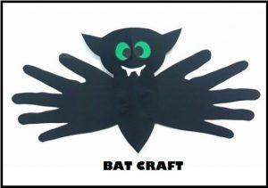 handprint halloween bat craft idea