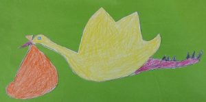 kindergarten preschool craft to stork
