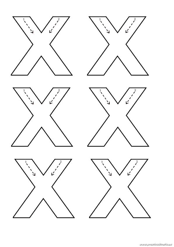 lowercase letter x trace worksheet for kindergarten preschool crafts. Black Bedroom Furniture Sets. Home Design Ideas
