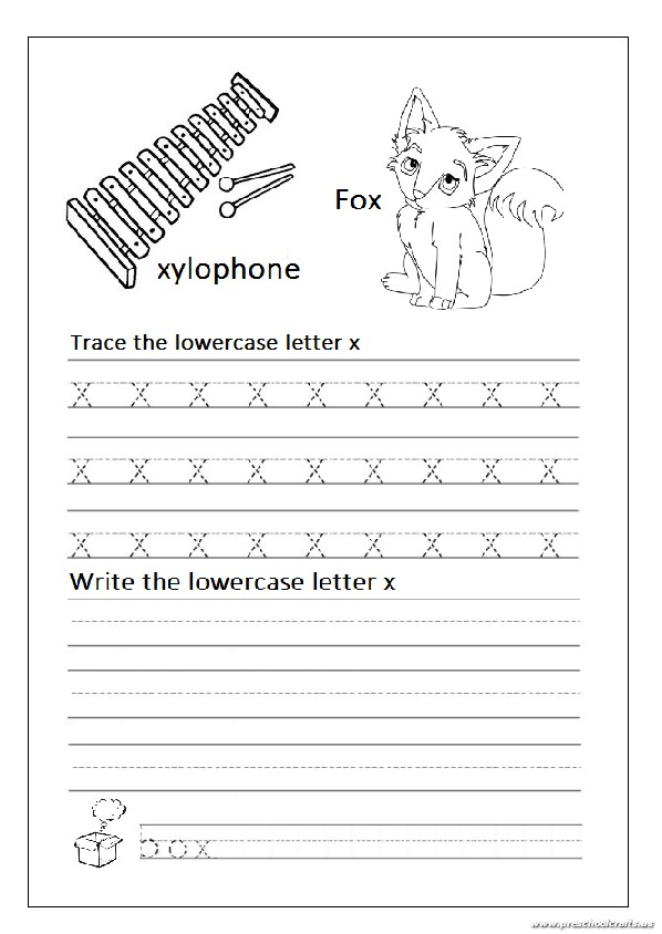 lowercase letter x worksheets for kindergarten and 1st 39 grade preschool crafts. Black Bedroom Furniture Sets. Home Design Ideas