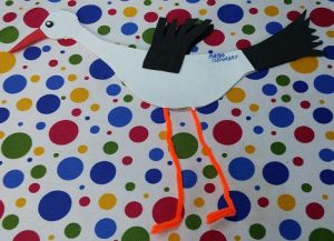 pipette craft - stork craft ideas