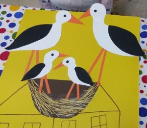 preschool craft to stork