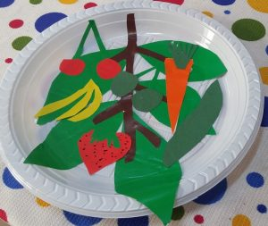 Fruit plate craft ideas for preschool - kindergarten