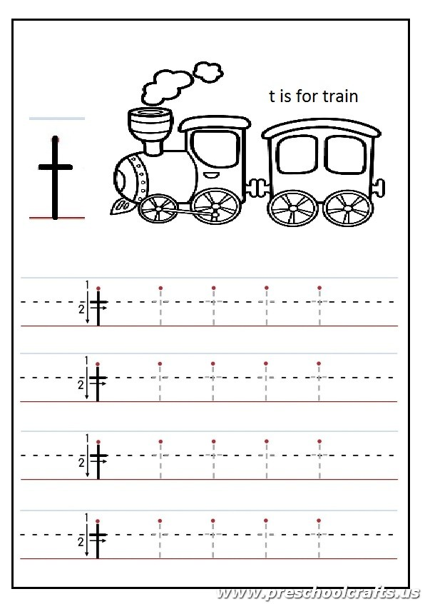 Lowercase letter T Worksheets Kindergarten and 1st grade t is – Letter T Worksheets