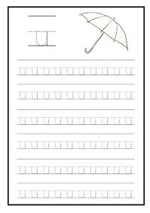 Lowercase letter u free printable worksheet for kindergarten and elementary school