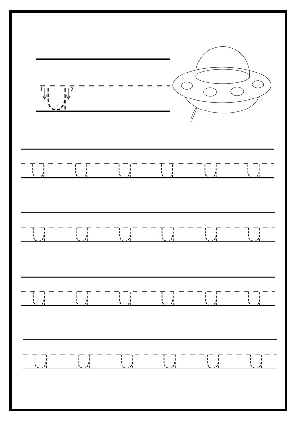 lowercase letter u free printable worksheet for kindergarten elementary school preschool crafts. Black Bedroom Furniture Sets. Home Design Ideas