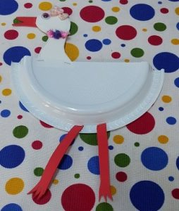 Paper plate stork craft ideas