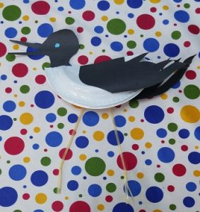 Paper plate stork craft ideas for kindergarten and preschool
