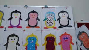 Penguin bulletin board for preschool and kindergarten