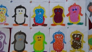 Penguin bulletin board ideas for kindergarten