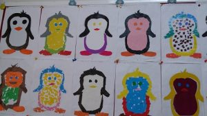 Penguin bulletin board ideas for preschool and kindergarten