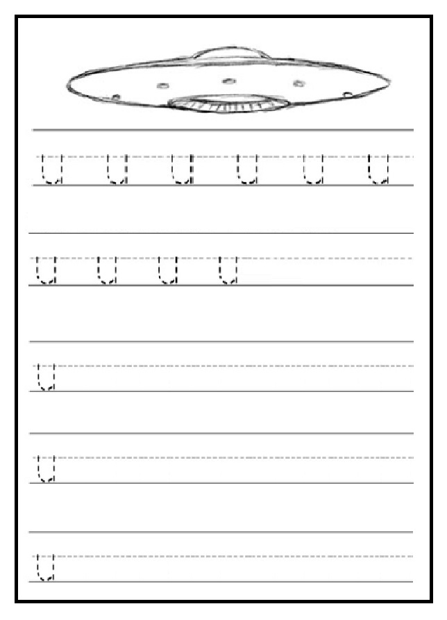 trace and write lowercase letter u worksheet preschool crafts. Black Bedroom Furniture Sets. Home Design Ideas