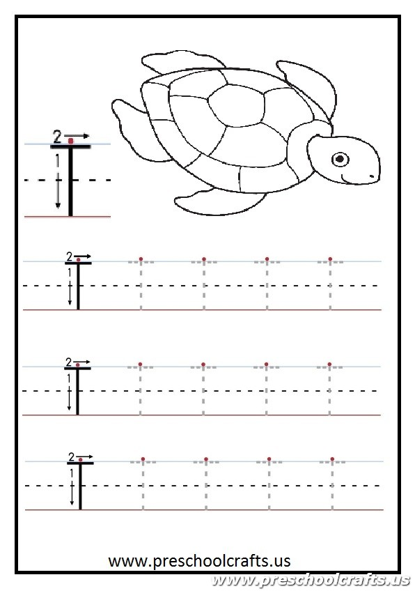 Uppercase letter T Worksheets Kindergarten and 1st grade – Letter T Worksheets