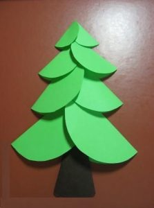 christmas tree folding paper kids craft activities