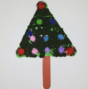 kindergarten christmas tree craft idea