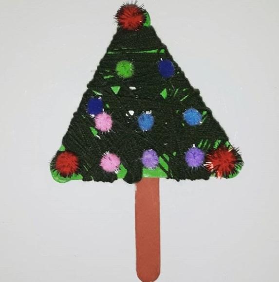 kindergarten christmas tree craft idea - Preschool Crafts