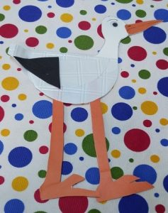 paper plate stork crafts for preschool