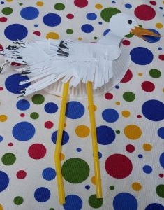preschool craft to stork paper plate