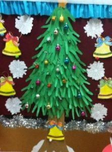 preschool handprint christmas tree crafting activity
