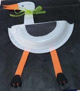 stork craft ideas for paper plate